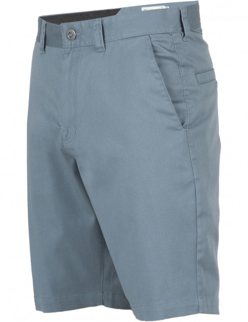 Volcom Frickin Modern Stretch Chino Shorts in Ash Blue