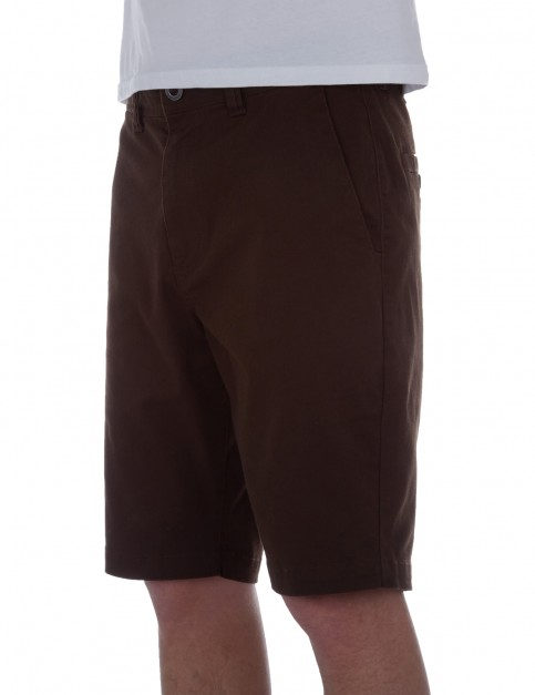 Volcom Frickin Modern Stretch Chino Shorts in Bark Brown