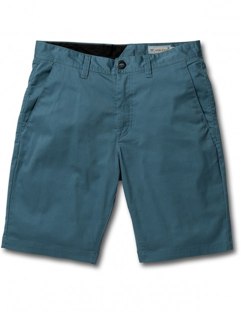 Volcom Frickin Modern Stretch Chino Shorts in Blue