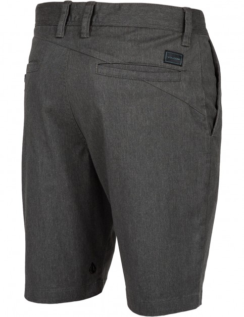 Volcom Frickin Modern Stretch Chino Shorts in Charcoal Heather
