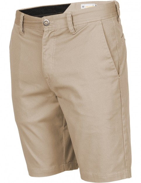Volcom Frickin Modern Stretch Chino Shorts in Khaki