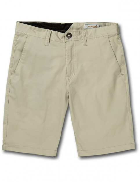 Volcom Frickin Modern Stretch Chino Shorts in Light Beige