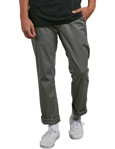 Volcom Frickin Modern Stretch Chino Trousers in Dusty Green
