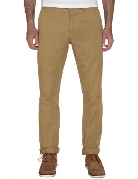 Dark Khaki Volcom Frickin Reg Slim Fit Trousers