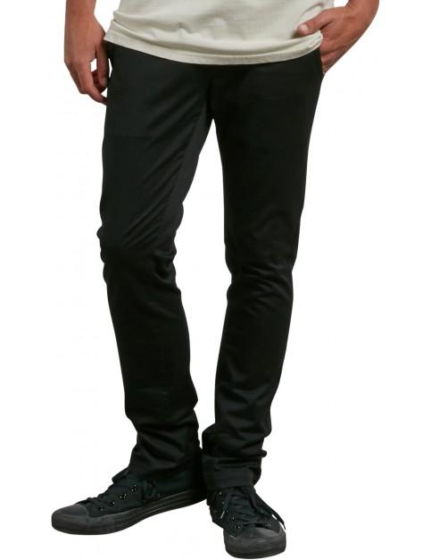 Volcom Frickin Skinny Chino Trousers in Black