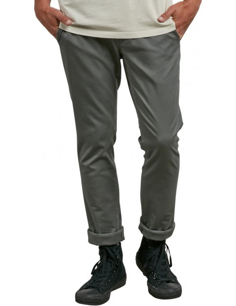 Volcom Frickin Skinny Chino Trousers in Dusty Green
