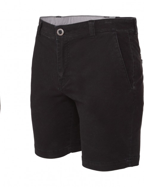 Black Volcom Frickin Slim Chino Shorts