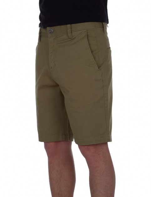Volcom Frickin Slim Chino Shorts in Light Army