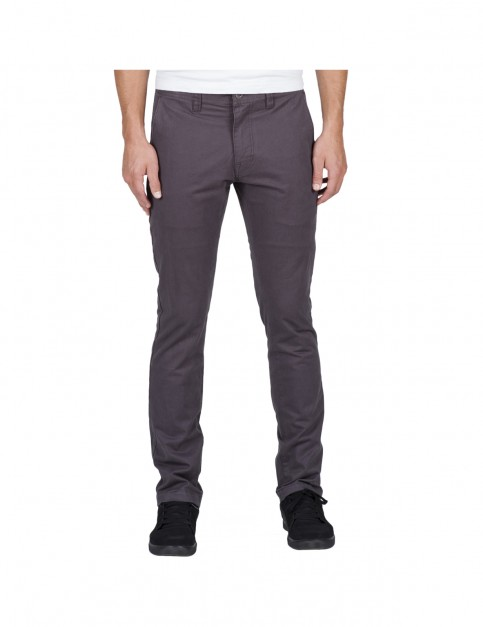 Volcom Frickin Slim Chino Trousers in Asphalt Black