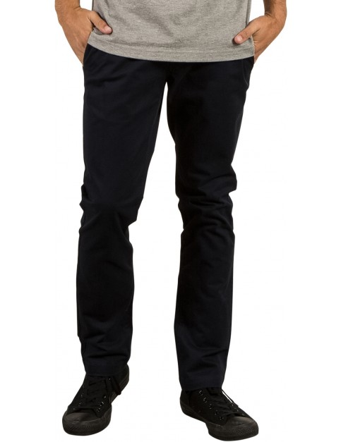 Volcom Frickin Slim Chino Trousers in Black