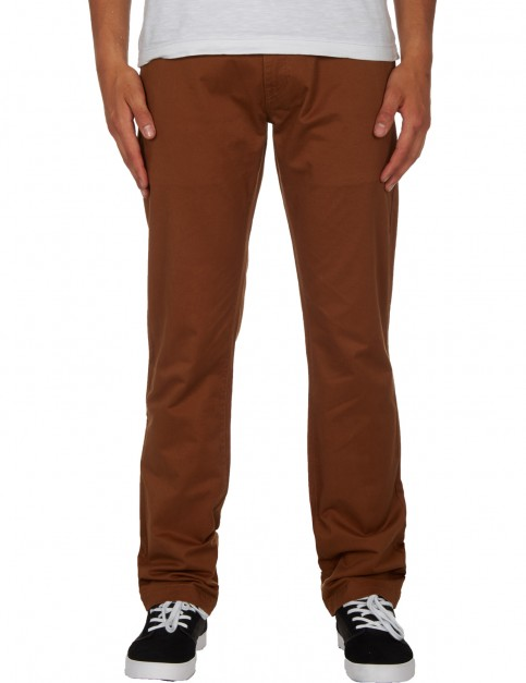 Volcom Frickin Slim Chino Trousers in Mud