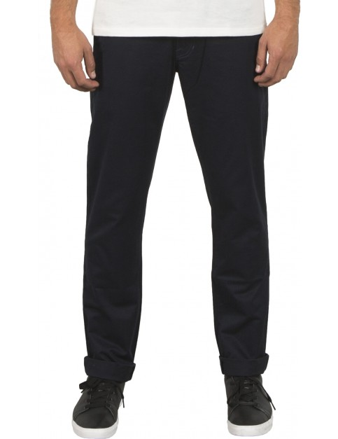 Volcom Frickin Slim Chino Trousers in Navy