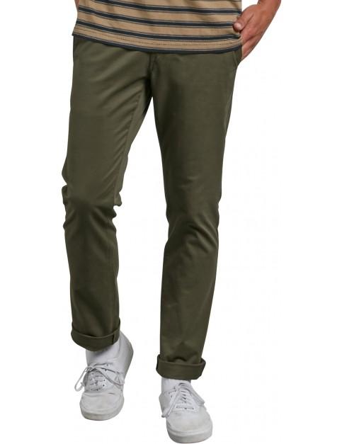 Volcom Frickin Slim Chino Trousers in Seaweed Green