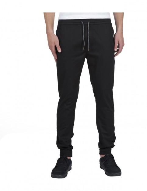 Volcom Frickin Slim Jogger Track Trousers in Black