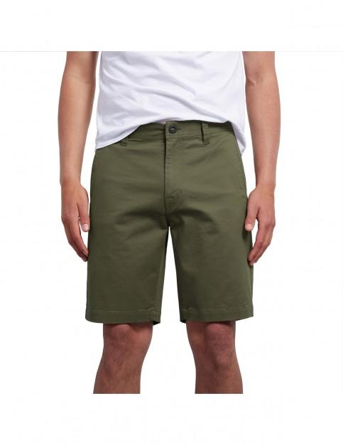 Volcom Frickin Slim Shorts in Seaweed Green