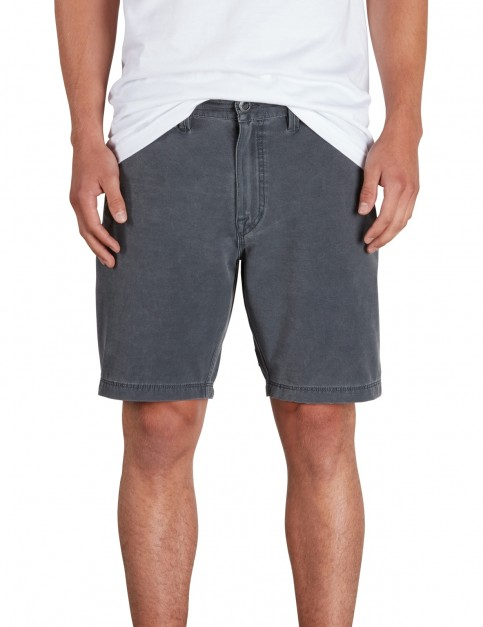 Volcom Frickin SNT Faded Shorts in Gunmetal Grey