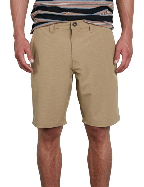 Volcom Frickin SNT Slub 20 Shorts in Sand Brown