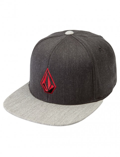 Charcoal Heather Volcom Full Stone 110F Cap