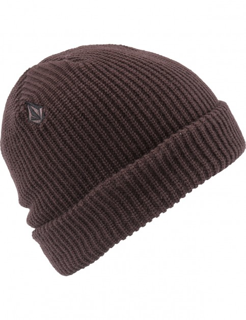 Volcom Full Stone Beanie in Bordeaux Brown