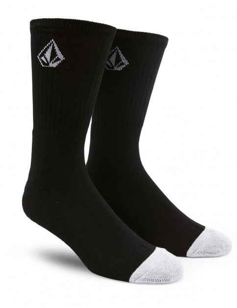 Volcom Full Stone Crew Socks in Black