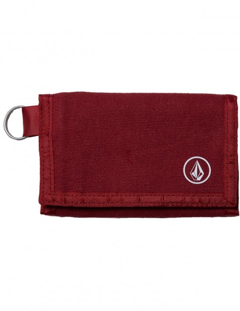 Volcom Full Stone Faux Leather Wallet in Crimson