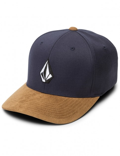 Volcom Full Stone Hthr XFIT Cap in Midnight Blue