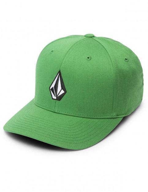 Volcom Full Stone Xfit Cap in Dark Kelly
