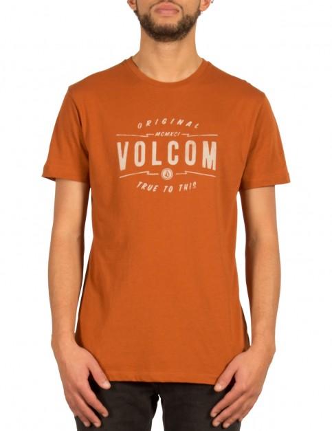 Volcom Garage Club Short Sleeve T-Shirt in Copper