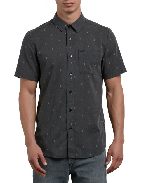 Volcom Gladstone Short Sleeve Shirt in Black