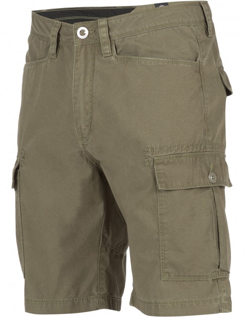 Volcom Granite Park Cargo Shorts in Military