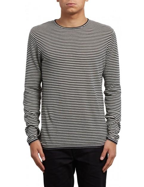 Volcom Harweird Stripe Sweatshirt in Clay
