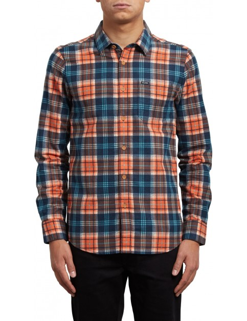 Volcom Hayden Long Sleeve Shirt in Scream Red