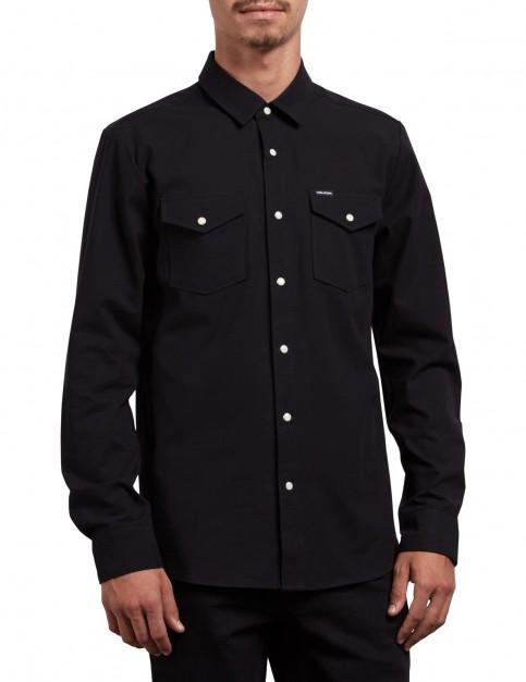 Volcom Hayes Long Sleeve Shirt in Black