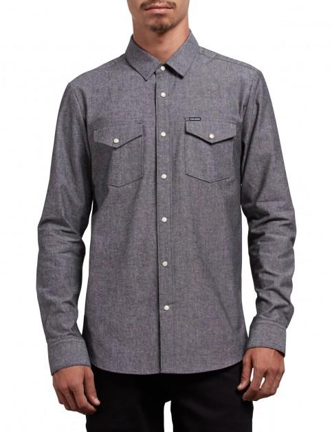 Volcom Hayes Long Sleeve Shirt in Grey
