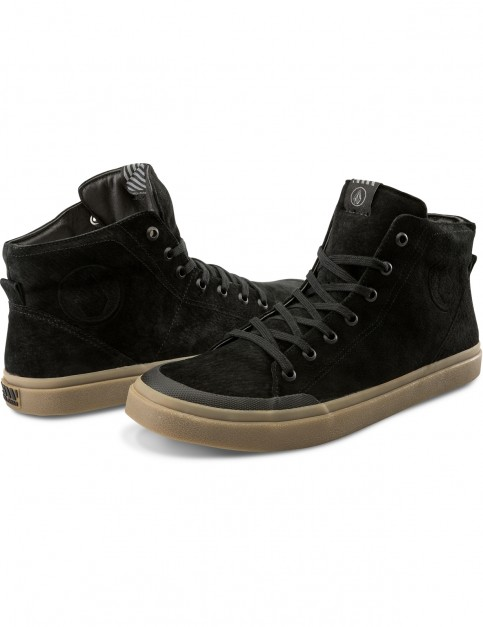 Volcom Hi Fi Lx Trainers in New Black