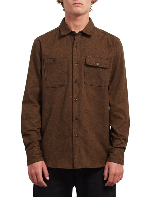 Volcom Hickson Update Long Sleeve Shirt in Hazelnut