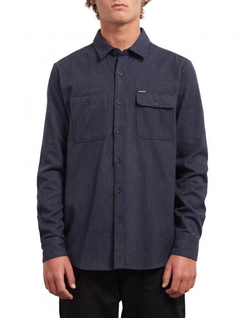 Volcom Hickson Update Long Sleeve Shirt in Midnight Blue