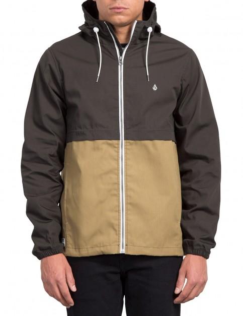 Volcom Howard Hooded Jacket in Dark Khaki