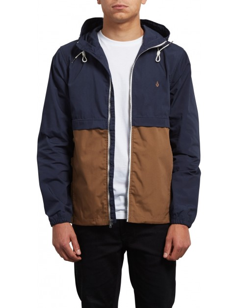 Volcom Howard Hooded Jacket in Navy