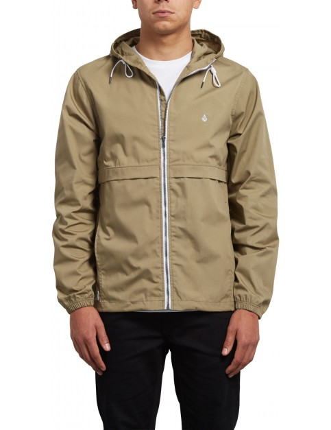 Volcom Howard Hooded Jacket in Sand Brown
