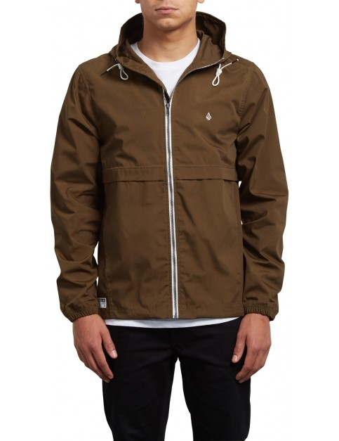 Volcom Howard Hooded Jacket in Seaweed Green