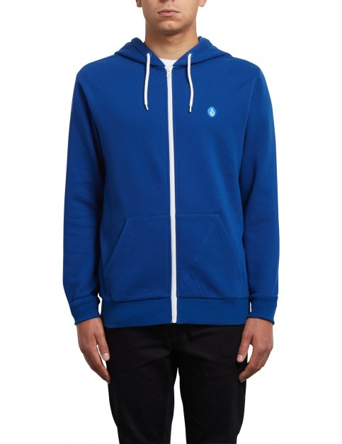Volcom Iconic Zipped Hoody in Camper Blue