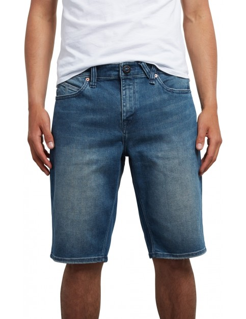 Volcom Kinkade Denim Denim Shorts in Aged Indigo
