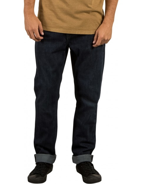 Volcom Kinkade Tapered Regular Fit Jeans in Matured Blue