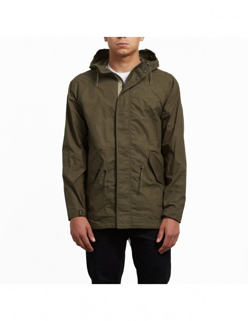 Volcom Lane Parka Jacket in Seaweed Green