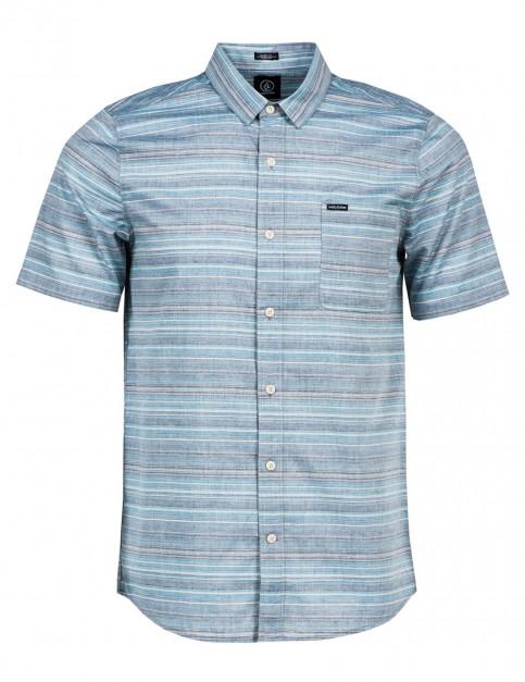 Volcom Ledfield Short Sleeve Shirt in Navy