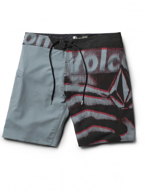 Volcom Liberate Mod 19 inch Mid Length Boardshorts in Lead