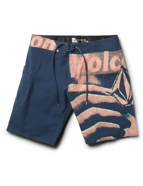 Volcom Liberate Mod 19 inch Mid Length Boardshorts in Smokey Blue