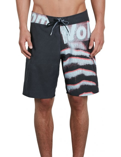 Volcom Liberate Mod 19 Mid Length Boardshorts in Black