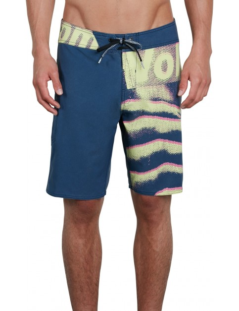 Volcom Liberate Mod 19 Mid Length Boardshorts in Indigo